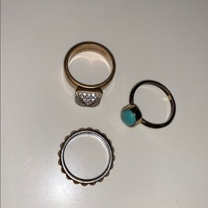 Juicy couture set of 3 rings
